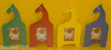 4 (Four) - Giraffe Wooden Picture Frames - Assorted Colors - NEW