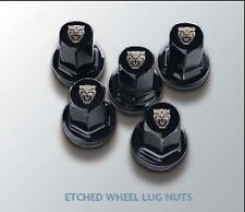 NEW JAGUAR BLACK ETCHED WHEEL LUG NUTS SET OF 20 C2D20073