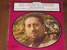 MILOSZ MAGIN CHOPIN CONCERTO 1 MAGIN CONCERTO 3 DECCA FRENCH LP RARE