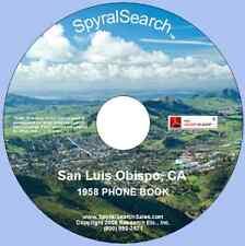 CA - San Luis Obispo 1958 Phonebook CD