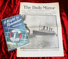 WALTER LORD - TITANIC - 1ST/1ST & NEWSPAPER FROM 1912