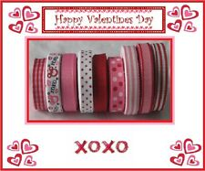 45 yards Mouse Heads Hugs and Kisses Valentine Grosgrain Ribbon Lot Mix