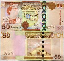 LIBYA 50 DINARS 2008 P 75 UNC