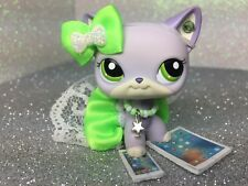 Littlest Pet Shop LPS Clothes Accessories Custom Outfit Neon Green NO CAT / DOG