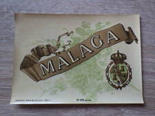 ETIQUETTE ANCIENNE CHROMO ALCOOL / MALAGA Litho Haberer Douin Jouneau 1900