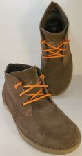 Crocs Chukka Boots Size 8M Brown Suede Orange Strings Cushy Comfort
