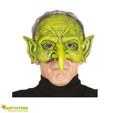 maschera halloween stregone mezzo viso horror mostro verde