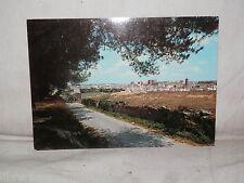 Vecchia cartolina foto d epoca di Laterza panorama Taranto veduta scorcio strada