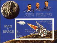 Yemen 1969 Space/Apollo 10/Astronauts/Capsule/Moon Lander imperf m/s (s4003d)