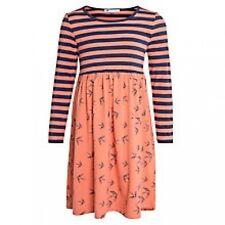 Girls NEW Ex store John Lewis Striped Jersey Swallow Print Dress Age 2 3 4 5 6