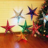 Star Paper Lantern Lampshade Wedding Party Xmas Pub Decor Fast Hanging Q7D7