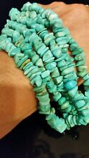 """Kenneth & Angie Aguilar Santo Domingo 20"""" Turquoise & Sterling Silver Necklace"""