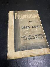 Promiscuous Dora Macy Pre Code Rare Antique Book 1931 Art Deco Orig Dj