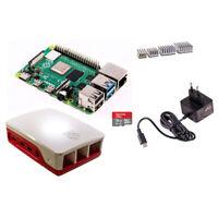 Starter Set Raspberry Pi 4 4GB + offizielles Case + Kühlkörper + Netzteil + 1...