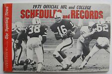 1971  TSN Official NFL And College Schedule and Records, small handbook