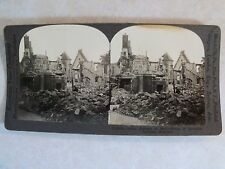 WW1 RAVAGES OF WAR WRECK OF BEAUTIFUL LOUVAIN BELGUIM KEYSTONE STEREOVIEW V18938