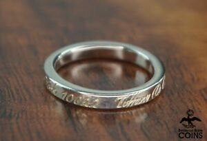 Tiffany & Co. Sterling Silver Notes 5th Avenue New York NY Wedding Band Ring