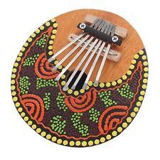 Kalimba Thumb Piano 7 Keys Tunable Coconut Shell Painted Musical Instrument IY