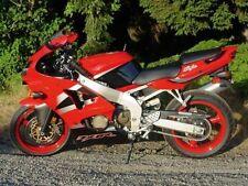 Red Black Fairing Complete Injection Kit for 2000-2002 Kawasaki Ninja ZX-6R
