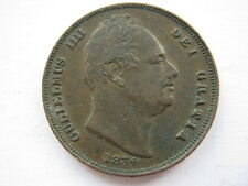 1834 Farthing, incuse line, VF. #2