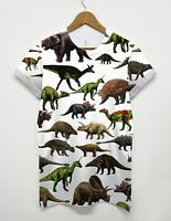 Dinosaur All Over Printed T Shirt Animal Graphic Retro 90's Top Indie Hipster