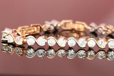 18K Yellow White Gold Toned 2.00ct TDW Diamond Women's Tennis Bracelet