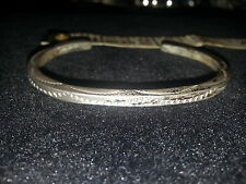 silver handmade cuff bracelet Navajo signed Tahe .925 sterling