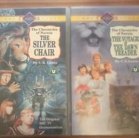 THE SILVER CHAIR /THE VOYAGE OF THE DAWN TREADER VHS VIDEOs Chronicles Of Narnia