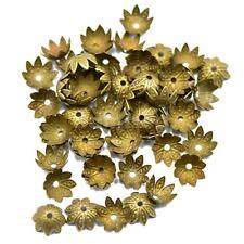 50pcs Vintage Bronze Flower Bead caps 10mm Jewellery Beading Craft Findings
