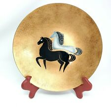 LILY ALEXANDER Modern Mid century Enamel Copper Plate 1950' CALIFORNIA DESIGN