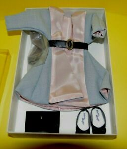 Vintage Mary Hoyer Polly Prim Grey Pink Coat, Dress, Belt, Shoes, Nylons-NEW IOB