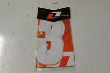 "7 Inch ""3"" One Industries Supercross Racing Number  3-Pack Decals White NU7-3-WH"