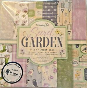 48 Sheets Secret Garden Paper. 150gsm. 15x15cm Scrapbooking, Card Making, Craft