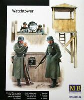 Watchtower with Searchlight and Phone/ 4 Figures  WWII era  1/35 MasterBox 3546
