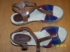 Cliffs by White Mountain Slingback Striped fabric Sandals Size 6M buckle strap