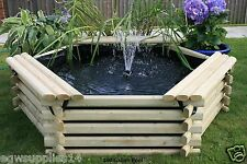 NEW 100 GALLON GARDEN POND - POOL WITH LINER RAISED WATER FEATURE