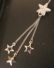 Stars - Dangle Belly Bar - AB Rainbow Crystals - Shorter 8mm Length Bar