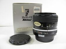 Nikon Nikkor 35mm f2 F Mount AI converted In original box 8.5 of 10 Condition