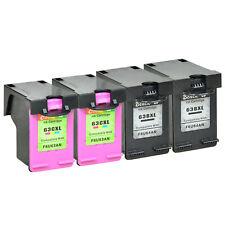 4 Pack 63XL Black Color Set Ink Cartridge F6U64A F6U63A for HP DeskJet 2132 3630