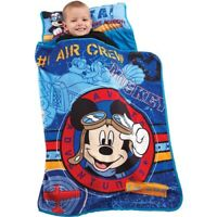 Disney Mickey Mouse Nap Mat Blue Boys Toddlers Soft Comfortable Kids Child New