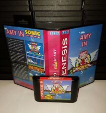 Amy Rose in Sonic the Hedgehog 2  - Video Game for Sega Genesis! Cart & Box!