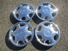 set of 4 genuine Toyota Camry Sienna Corolla chrome 15 inch hubcaps wheel covers