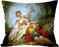 housse de coussin 50  x 40 cm peinture fragonard personnalise prenom réf 537