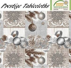 Christmas PVC Vinyl Wipe Clean Tablecloth - ALL SIZES - Code: F848-3