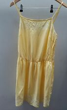 Summer Dress size 12 George Yellow strappy Floral <C2312