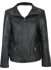 NWOT East5th genuine leather jacket, size M, color Black, lined, zip closure