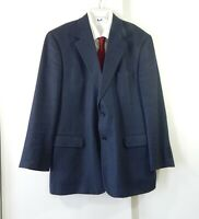 BROOKS BROTHERS jacket blazer sport coat navy blue wool silk linen 2 button 42R