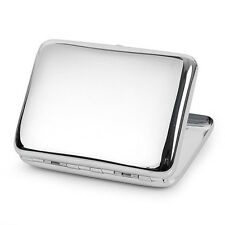 LD_ EG_ Portable Brass Chromeplate Metal Cigarette Case Box Holder 16 Cigarett