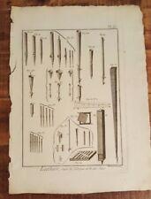 1 Engraving, Titled - LUTHIER, SUITE DE L'ORGUE ET DE SES JEUX - Mid 1700s