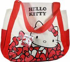 New Ex Large Genuine Sanrio Hello Kitty BeigeTote Shoulder shopping Bag By Eikoh